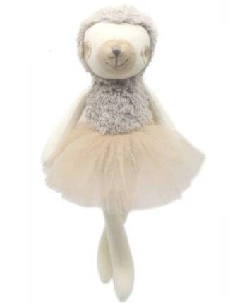 Ballerina soft plush sloth toy